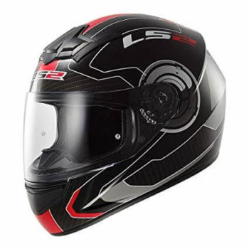 LS2 FF352 Atmos Matt Black Red Full Face Helmet 2019