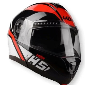 Lazer MH5 Light Gloss Black Red White Helmet