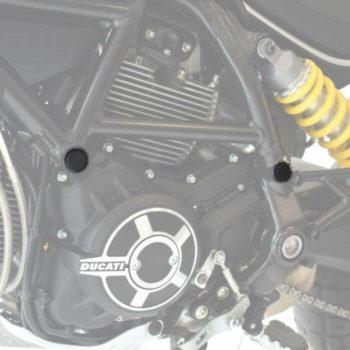 Pyramid Plastics Frame Caps for Ducati Scrambler Desert Sled 1