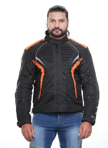 Zeus Arion Smart Black Orange Riding Jacket 2