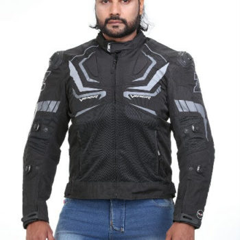 Zeus Viper Smart Black Grey Riding Jacket 2