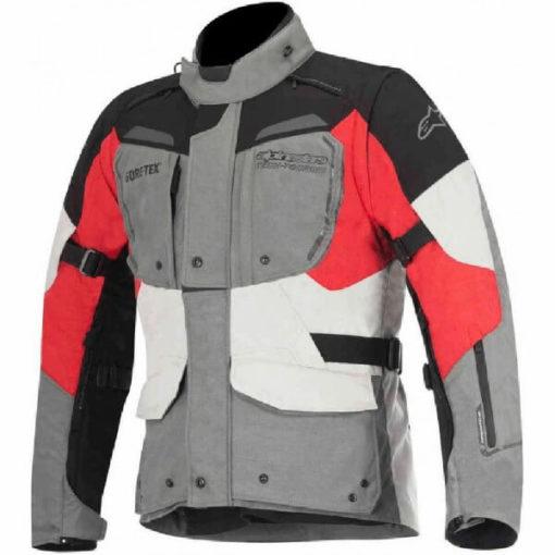 Alpinestars Durban Goretex Grey Black Red Riding Jacket