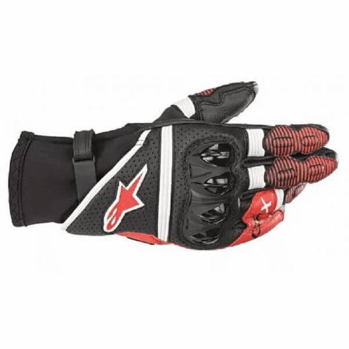 Alpinestars GPX V2 Black White Bright Red Riding Gloves