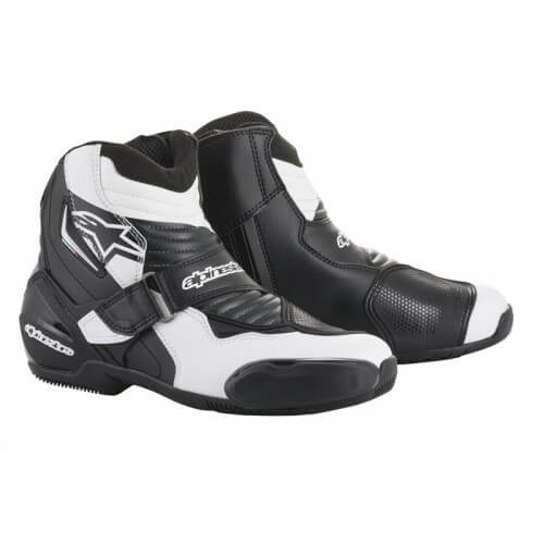 Alpinestars SMX 1 R Black White Graphite Riding Boots
