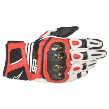 Alpinestars SP X Air Carbon V2 Black White Bright Red Riding Gloves