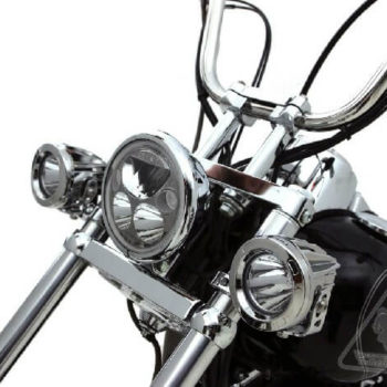 Denali Chrome Light Mounts for Forks 39 49MM 1