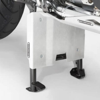 SW Motech Sump Guard Centerstand Extension for BMW R1200GS GSA R1250GS GSA Silver