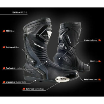Shima RSX 6 Men Black Riding Boots 1