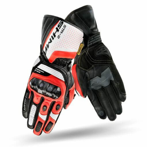 Shima STR 2 Black White Red Riding Gloves