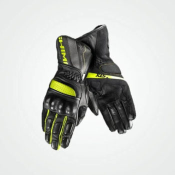 Shima STX Black Fluorescent Yellow Riding Gloves