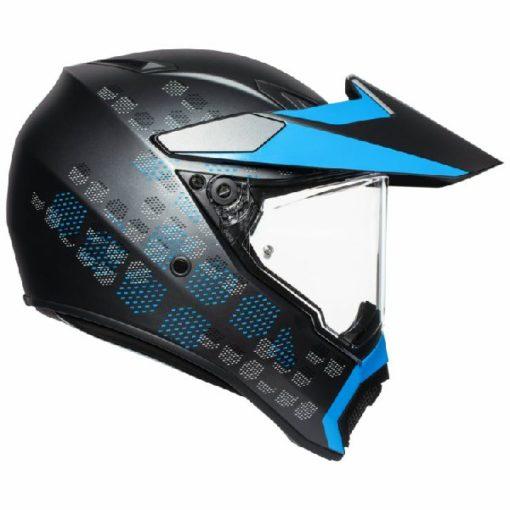 AGV AX 9 Antartica Matt Black Cyan Multi Dual Sport Helmet 2