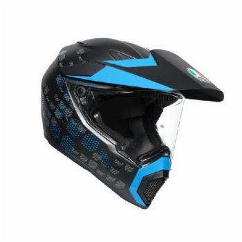 AGV AX 9 Antartica Matt Black Cyan Multi Dual Sport Helmet