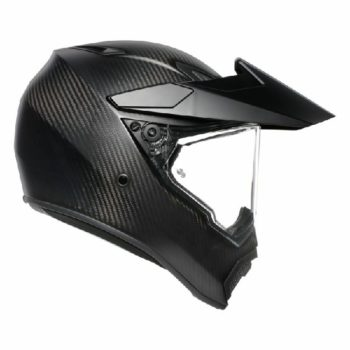 AGV AX 9 Carbon Matt Black Solid Dual Sport helmet 2