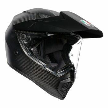 AGV AX 9 Carbon Matt Black Solid Dual Sport helmet