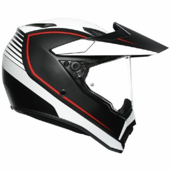 AGV AX 9 Pacific Road Matt Black White Red Multi Dual Sport Helmet 2