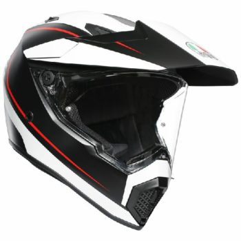 AGV AX 9 Pacific Road Matt Black White Red Multi Dual Sport Helmet