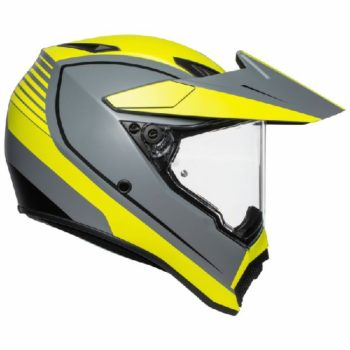 AGV AX 9 Pacific Road Matt Grey Yellow Black Multi Dual Sport Helmet 2