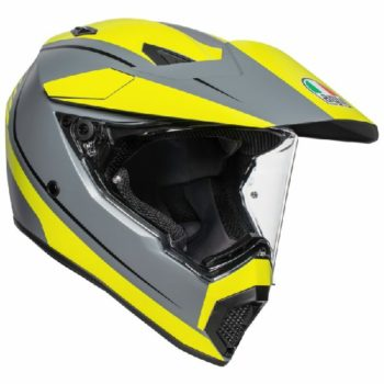 AGV AX 9 Pacific Road Matt Grey Yellow Black Multi Dual Sport Helmet