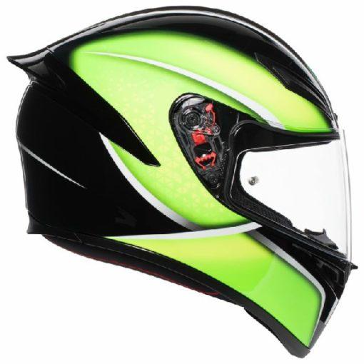 AGV K 1 Qualify Gloss Black Lime Multi Full Face Helmet 2