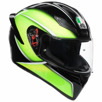 AGV K 1 Qualify Gloss Black Lime Multi Full Face Helmet