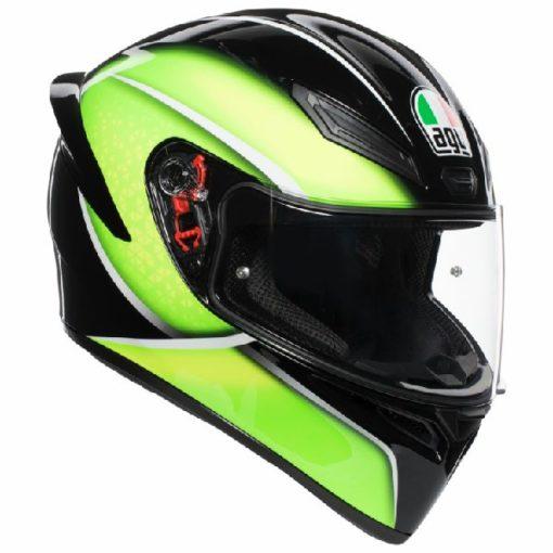 AGV K 1 Qualify Gloss Black Lime Multi Full Face Helmet