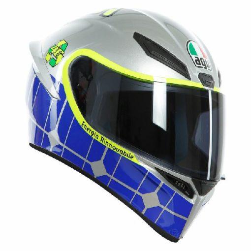 AGV K 1 Rossi Mugello Gloss Silver Blue Multi Full Face Helmet