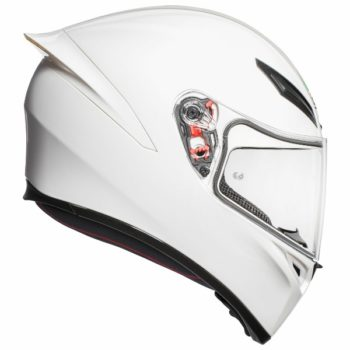 AGV K 1 Solid Matt White Full Face Helmet 2