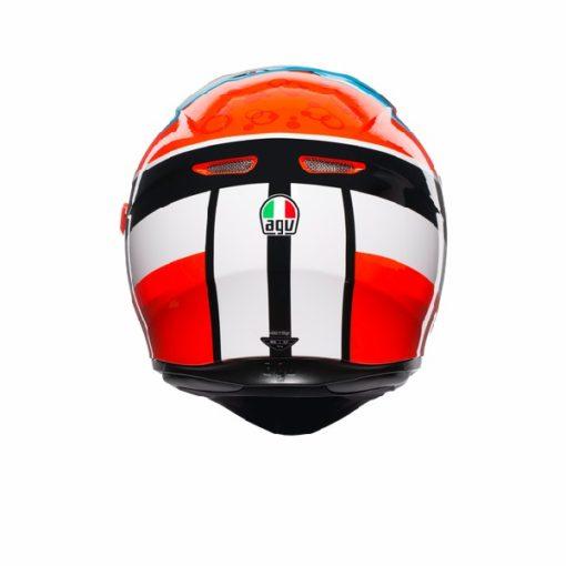 AGV K 3 SV Attack Gloss Red White Black Full Face Helmet 4