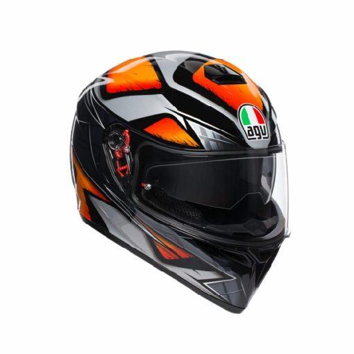 AGV K 3 SV Liquefy Gloss Black Orange Full Face Helmet