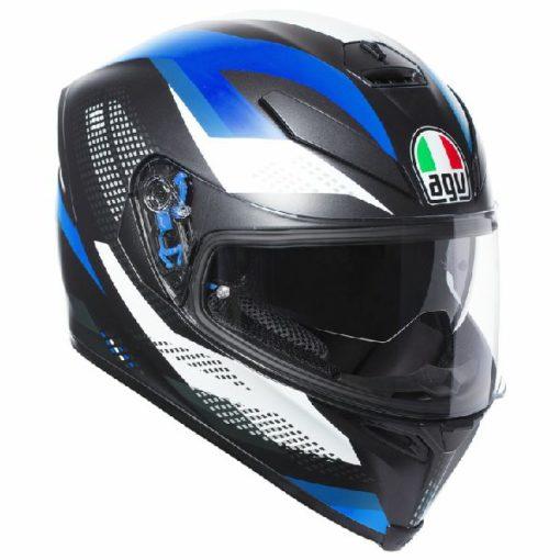 AGV K 5 S Marble Matt Black White Blue Multi Plk Full Face Helmet