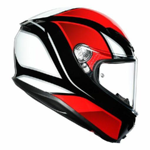 AGV K 6 Hyphen Gloss Black Red White Multi Full Face Helmet 2