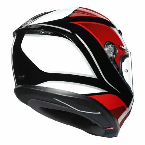 AGV K 6 Hyphen Gloss Black Red White Multi Full Face Helmet 3