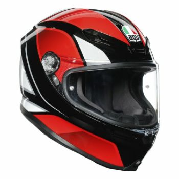 AGV K 6 Hyphen Gloss Black Red White Multi Full Face Helmet