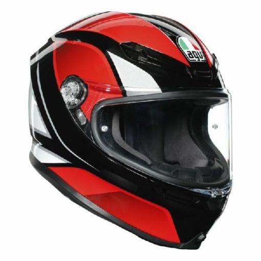 AGV K 6 Hyphen Gloss Black Red White Multi Full Face Helmet