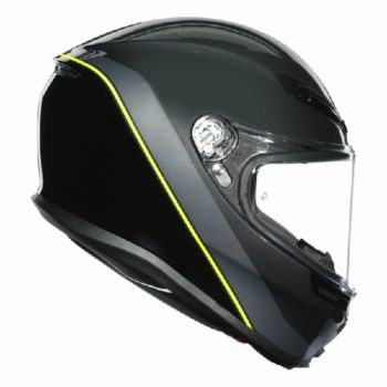 AGV K 6 Minimal Gloss Gunmet Black Yellow Multi Full Face Helmet 2