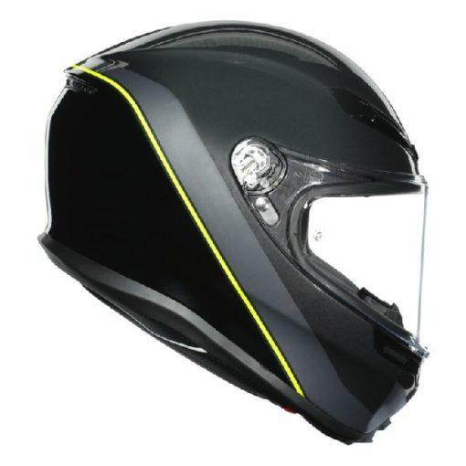 AGV K 6 Minimal Gloss Gunmet Black Yellow Multi Full Face Helmet 2