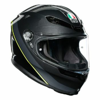AGV K 6 Minimal Gloss Gunmet Black Yellow Multi Full Face Helmet