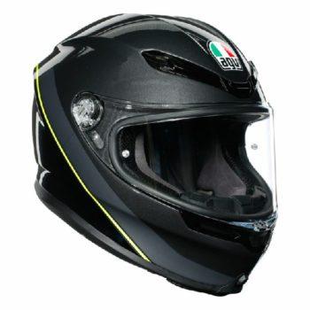 AGV K 6 Minimal Gloss Gunmet Black Yellow Multi Full Face Helmet