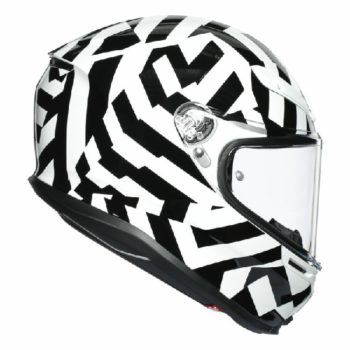 AGV K 6 Secret Gloss Black White Full Face Helmet 2