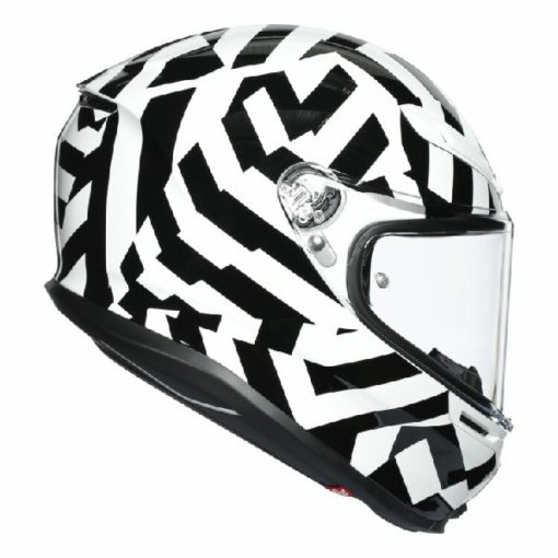 AGV K 6 Secret Gloss Black White Full Face Helmet 2
