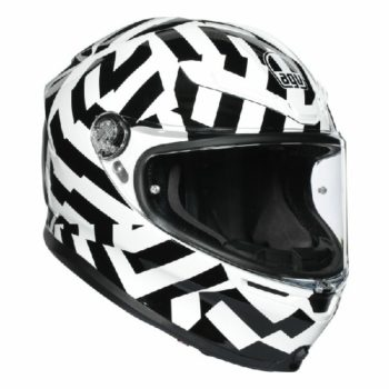 AGV K 6 Secret Gloss Black White Full Face Helmet