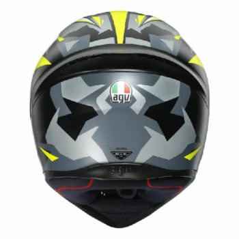 AGV K1 Mir 2018 Matt White Black Yellow Full Face Helmet 1