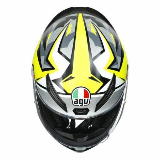 AGV K1 Mir 2018 Matt White Black Yellow Full Face Helmet 2