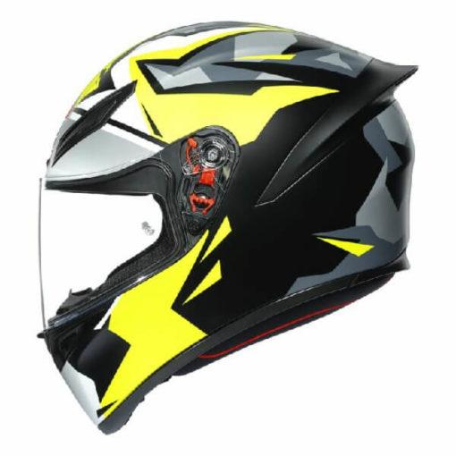 AGV K1 Mir 2018 Matt White Black Yellow Full Face Helmet 3