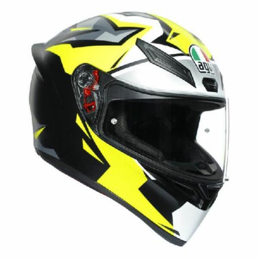 AGV K1 Mir 2018 Matt White Black Yellow Full Face Helmet