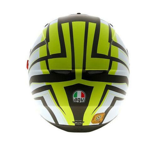 AGV K3 SV Multi Plk Avior Matt White Lime Full Face Helmet 1