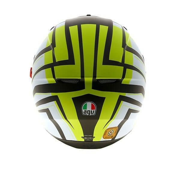 Agv K3 Sv Multi Plk Avior Matt White Lime Full Face Helmet Buy Online In India