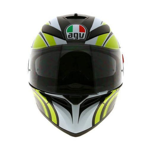AGV K3 SV Multi Plk Avior Matt White Lime Full Face Helmet 2