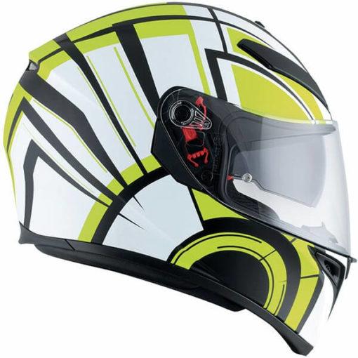 AGV K3 SV Multi Plk Avior Matt White Lime Full Face Helmet 3