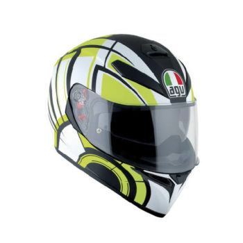 AGV K3 SV Multi Plk Avior Matt White Lime Full Face Helmet